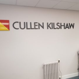 Internal Displays and Office Refurbishment, LED light pockets, internal signs, Jedburgh, Borders, Scotland