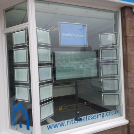 LED Light Pockets and Digital Screen TV Media Player for Estate Agents Stonehaven