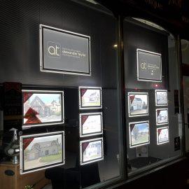 LED Light Pockets and Logo Sign Display for Estate Agents in Falkirk